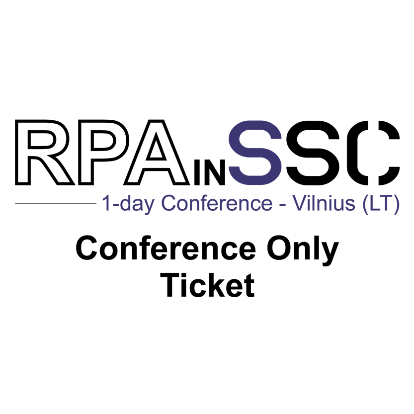 RPAinSSC_Conference_only_ticket_vilnius
